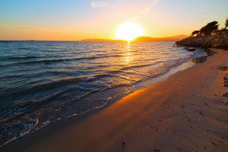 foreshore: colorful sunset in Alghero foreshore, Sardinia
