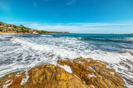 rough sea: Rough sea in Piccolo Pevero beach in Costa Smeralda, Italy