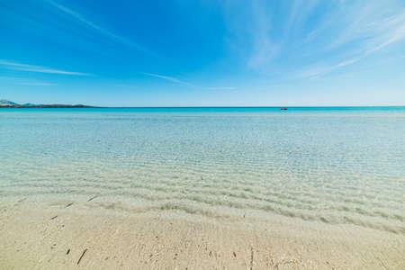blue sea in La Cinta beach, Sardinia