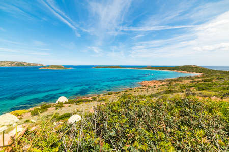 capo: view of beautiful Capo Coda Cavallo, Sardinia Stock Photo