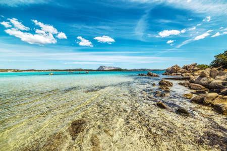 Cala Brandinchi under small clouds, Sardinia