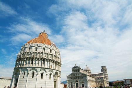 World famous Piazza dei Miracoli in Pisa, Italy Stock Photo