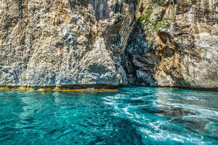 blue sea in Orosei gulf, Sardinia Stock Photo