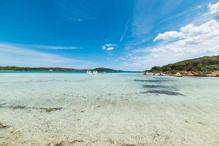 Cala Brandinchi under a blue sky, Sardinia