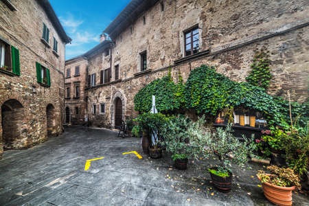 small square in Montepulciano, Italy