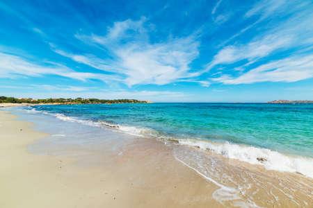 white sand in Romazzino beach, Sardinia