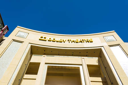 Hollywood boulevard: LOS ANGELES, CALIFORNIA - NOVEMBER 02, 2016: Dolby Theatre in Hollywood boulevard