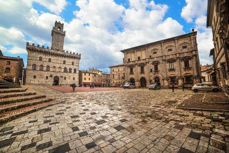 Piazza Grande in Montepulciano, Italy