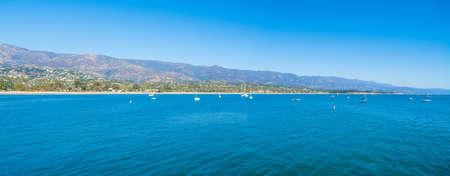 clear sky over Santa Barbara blue sea, California Reklamní fotografie