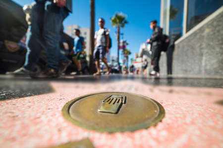 close up of a Hollywood boulevard star in Los Angeles, California