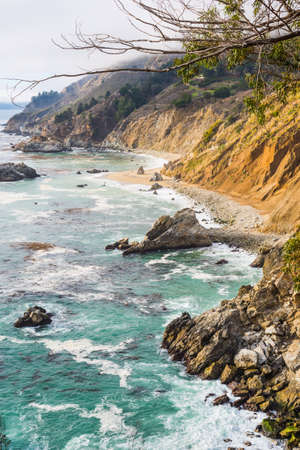 Rocky shore in Big Sur, California