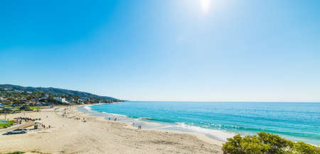 laguna: Clear sky over Laguna beach, California