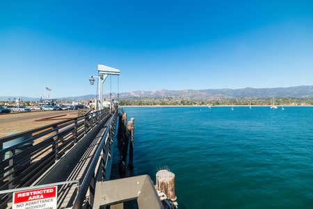 Santa Barbara coastline seen from the pier, California