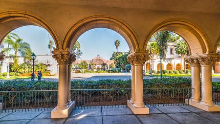 Arches in Balboa park in San Diego, California Stock Photo