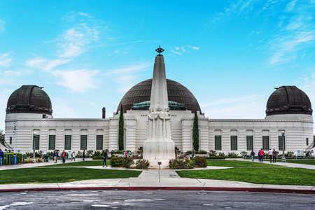 Griffith observatory in Los Angeles on a sunny day, California
