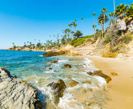 laguna: Laguna Beach shoreline, California