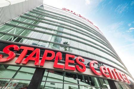 LOS ANGELES, CALIFORNIE - 27 octobre 2016: Staples Center arena dans le centre de Los Angeles