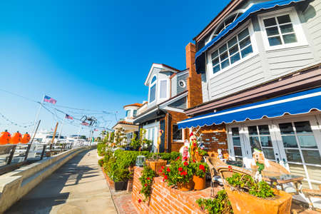 Beautiful houses in Newport Beach, California