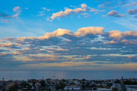 cloudy dawn in Manhattan beach, California