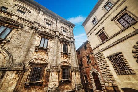 Historic buildings in Montepulciano, Italy Stock Photo