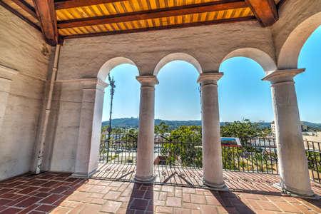 Arches in Santa Barbara courthouse, California
