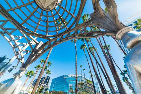LOS ANGELES, CALIFORNIA - NOVEMBER 02, 2016: Four Ladies of Hollywood gazebo seen from below