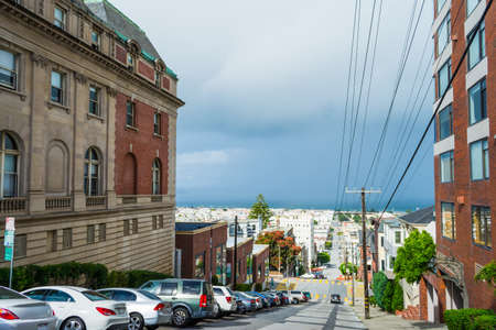 grey sky in San Francisco, California Stock Photo