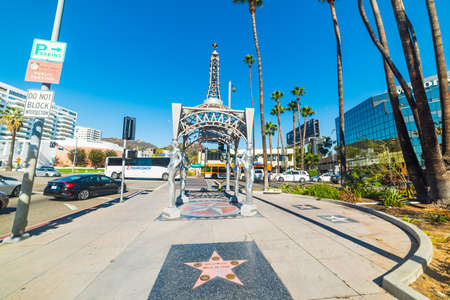 LOS ANGELES, CALIFORNIA - NOVEMBER 02, 2016: Four Ladies of Hollywood gazebo