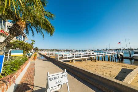 Balboa island seafront, California