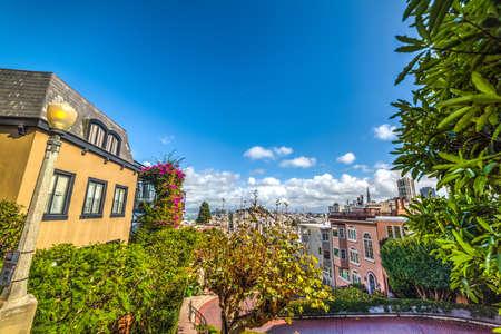 blue sky over San Francisco bay, California Stock Photo