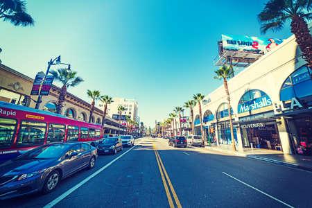 Hollywood boulevard: LOS ANGELES, CALIFORNIA - NOVEMBER 2, 2016: Hollywood boulevard in Los Angeles, California