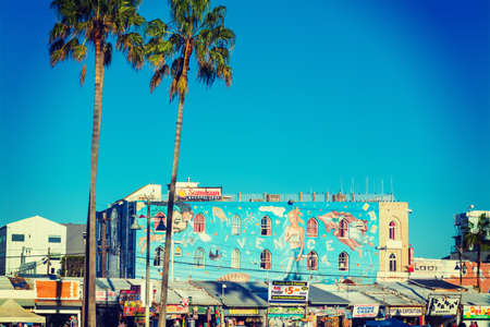 beachfront: Venice, California - November 03, 2016: Mural in Venice beach Editorial