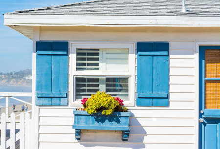 米国カリフォルニア州における木造住宅のクローズ アップ