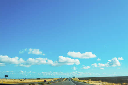 some cars in Interstate 5, California Stock Photo