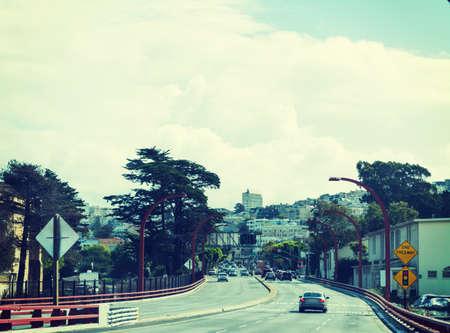 clouds over San Francisco, California