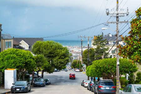 San Francisco bay seen from the city, California