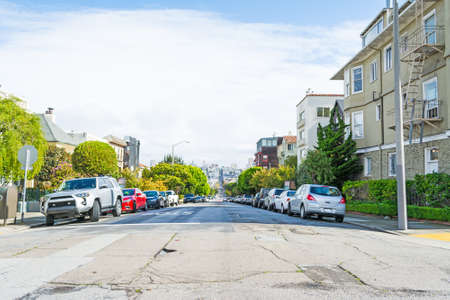 frisco: clear day in San Francisco, California Stock Photo