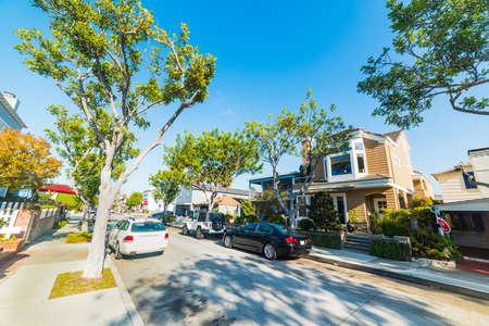 street in Balboa island, California