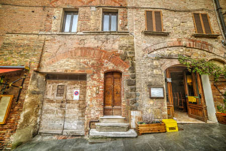montepulciano: Rustic wall in Montepulciano, Italy