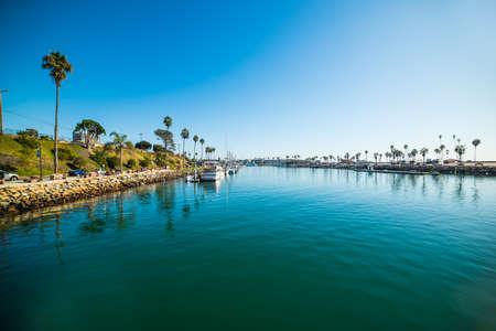 blue water in Oceanside harbor, California
