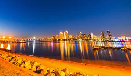 San Diego downtown seen from Coronado island, California Stock Photo