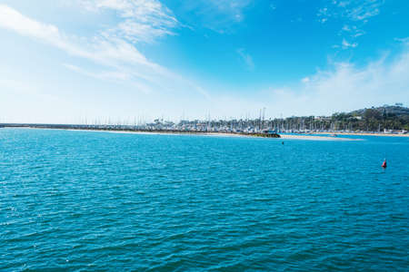 Blue sea in Santa Barbara coastline, California