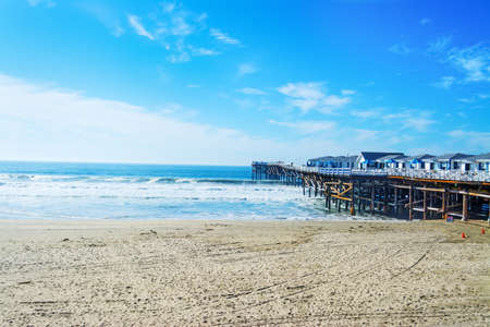 Crystal pier in Pacific Beach, Californië Stockfoto