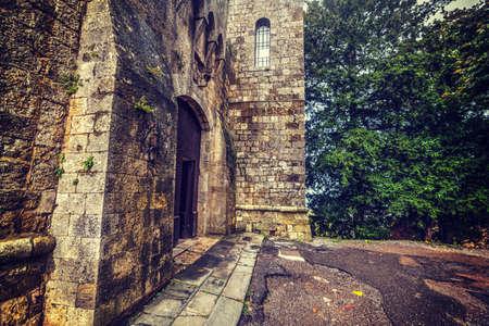 montepulciano: Montepulciano fortress entrance, Tuscany Editorial