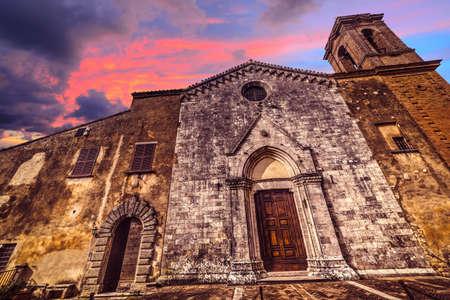 santa maria: Santa Maria dei Servi church in Montepulciano, Italy