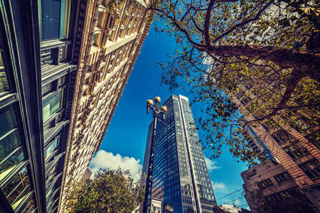 frisco: Skyscrapers in downtown San Francisco, California Stock Photo