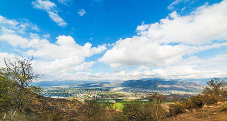 San Fernando Valley seen from Mount Lee, California Stock Photo
