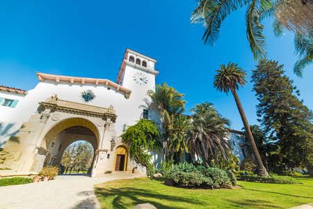 Santa Barbara courthouse on a clear day, California