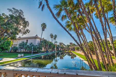 Pond in Balboa Park, California Editorial