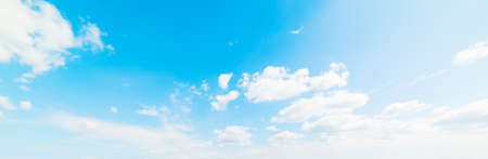blue sky with white, soft clouds Stock Photo